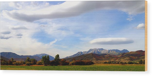 Timp Wood Print featuring the photograph Clouds Over Timp by TL Mair