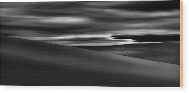 Sandstorm Wood Print featuring the photograph Deserts Are The Soul Of The World ... by Yvette Depaepe