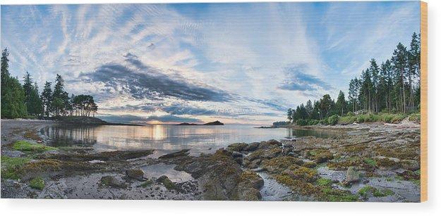 Beautiful Wood Print featuring the photograph Galiano Panorama by James Wheeler