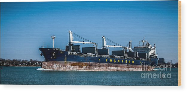 Ship Wood Print featuring the photograph ISA by Ronald Grogan