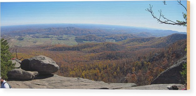 Old Wood Print featuring the photograph Old Rag Hiking Trail - 121268 by DC Photographer