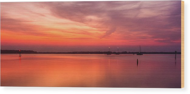 Dawn Wood Print featuring the photograph The Beautiful Minutes Before Sunrise by David Kay