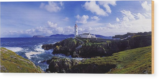 �fanad Head Wood Print featuring the photograph Waves Breaking On The Coast With A by The Irish Image Collection