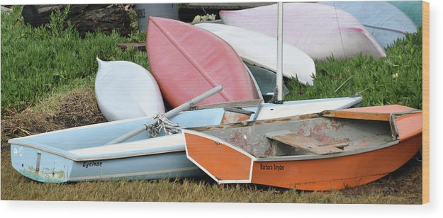 Boats Boats And More Boats Wood Print featuring the photograph Boats Boats And More Boats by Barbara Snyder