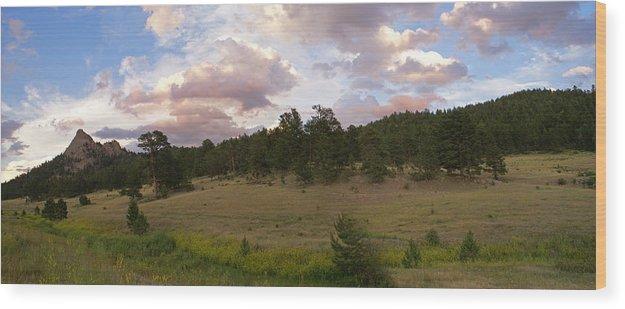 Eagle Roick Wood Print featuring the photograph Eagle Rock Estes Park Colorado by Heather Coen