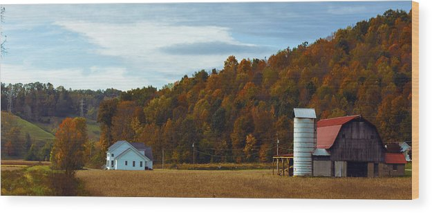 Fall Wood Print featuring the photograph Fall Southeast Ohio by Jason Harman