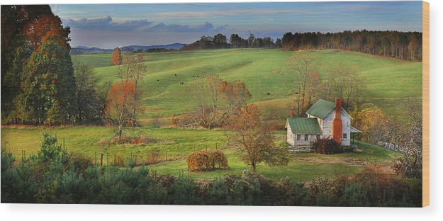 Landscape Wood Print featuring the photograph Homeplace by Kevin Hurley