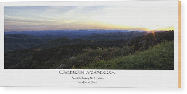 Cowee Mountains Overlook Wood Print featuring the photograph Cowee Mountains Overlook by Ben Shields