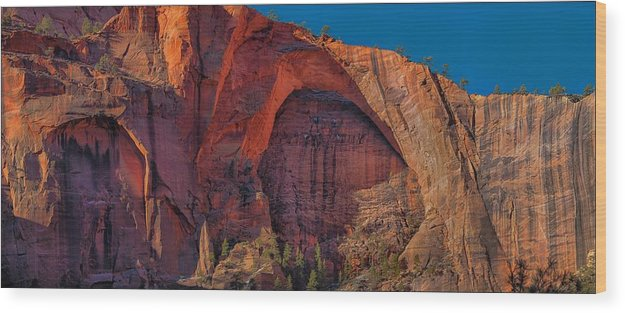 Utah Wood Print featuring the photograph Natural Arch. by Anatoly Petrenko