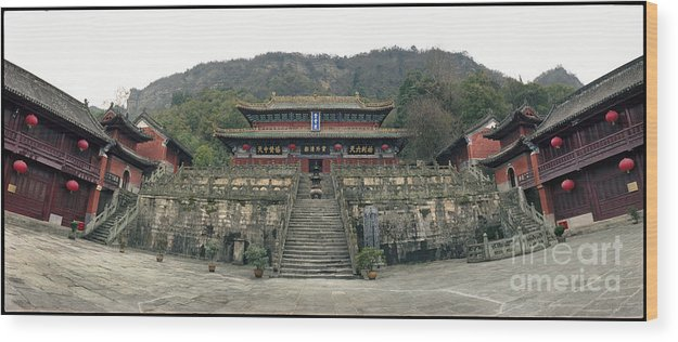 C031301n Wood Print featuring the photograph Wudangshan - Zhishaodian by Ty Lee