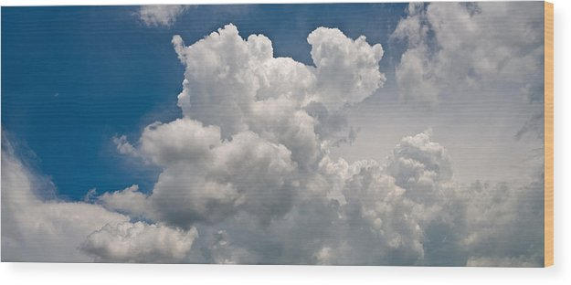 Cloud Wood Print featuring the photograph Panoramic Clouds Number 1 by Steve Gadomski