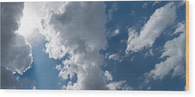 Cloud Wood Print featuring the photograph Panoramic Clouds Number 1o by Steve Gadomski