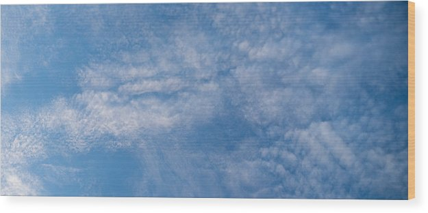 Cloud Wood Print featuring the photograph Panoramic Clouds Number 4 by Steve Gadomski