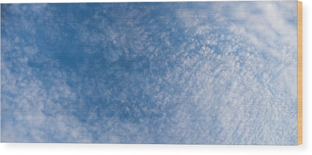 Cloud Wood Print featuring the photograph Panoramic Clouds Number 7 by Steve Gadomski