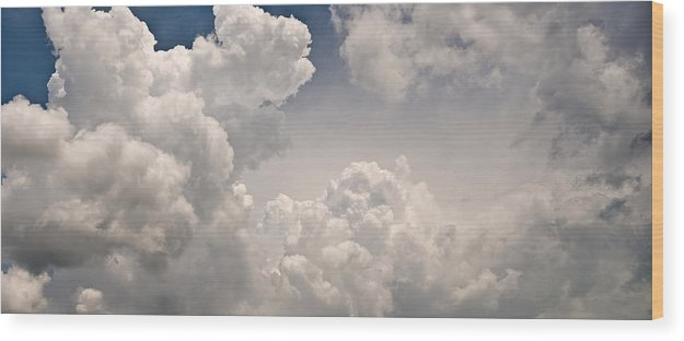 Cloud Wood Print featuring the photograph Panoramic Clouds Number 9 by Steve Gadomski
