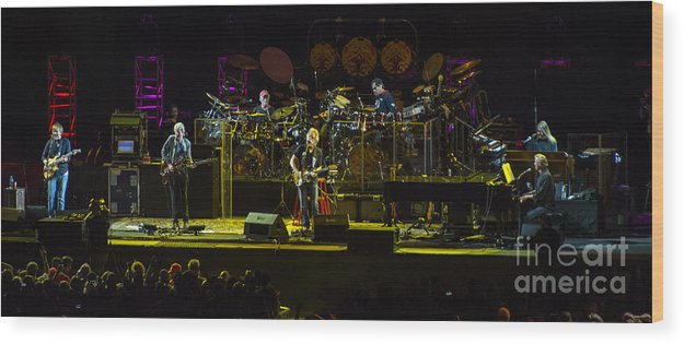 Grateful Dead Wood Print featuring the photograph The Grateful Dead At Soldier Field Fare Thee Well by David Oppenheimer