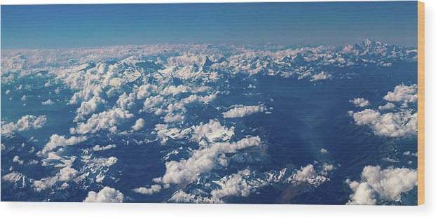 Landscape Wood Print featuring the photograph Aerial View by Nikos Stavrakas