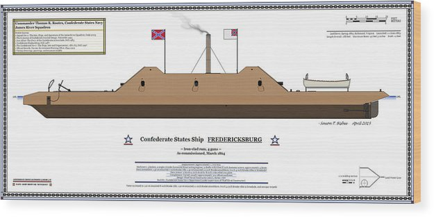 Navy Wood Print Featuring The Digital Art Css Fredericksburg Color Profile By Saxon Bisbee