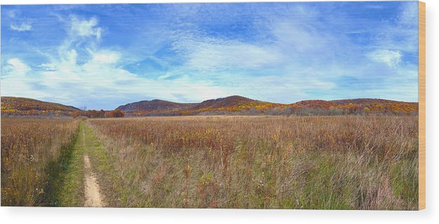 Fall Wood Print featuring the photograph East Entrance Devils Lake by Wim Haverkamp