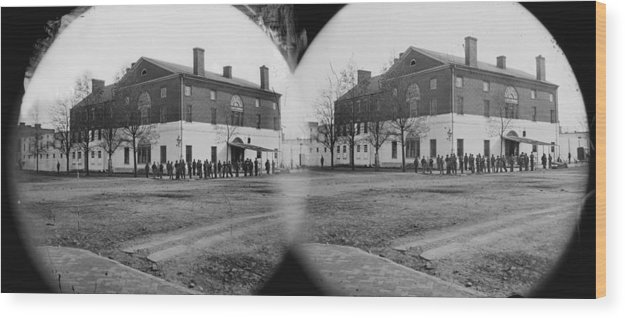 1860s Wood Print featuring the photograph The Civil War, Old Capitol Prison, 1st by Everett