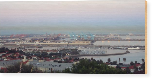 Port Wood Print featuring the photograph Port Of Los Angeles 0568 by Edward Ruth