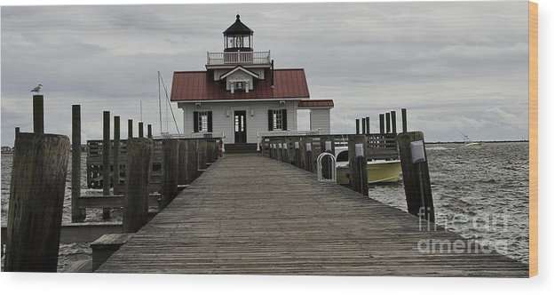 Manteo Lighthouse Wood Print featuring the photograph The Little Lighthouse II by Debra Johnson