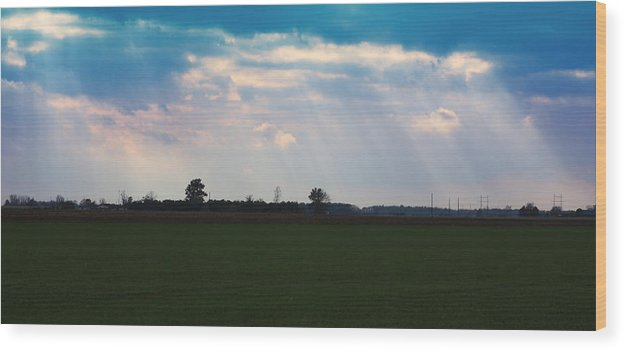 Landscape Wood Print featuring the photograph Heavenly Day by Bruce McEntyre
