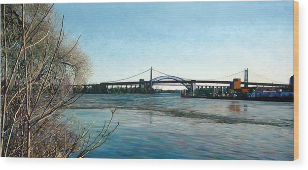 River Wood Print featuring the painting Hell's Gate by Randy Ford