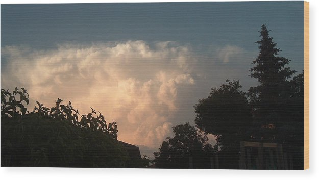 Sky Wood Print featuring the photograph Atmospheric Barcode No. 05 7 2008 12 by Donald Burroughs