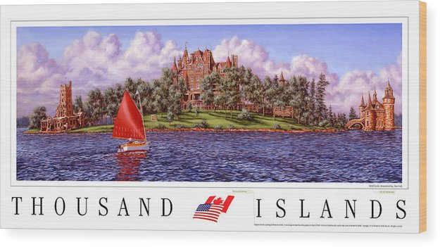 Thousand Islands Wood Print featuring the print Boldt's Castle Poster by Richard De Wolfe