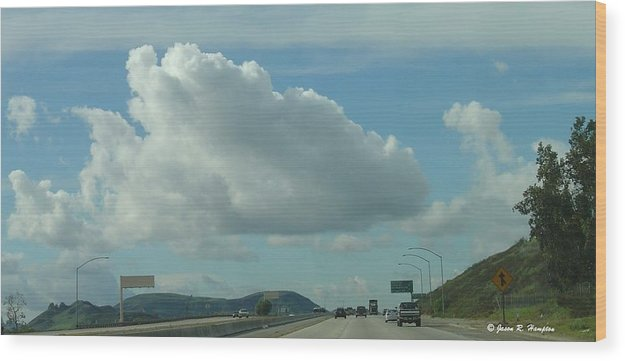 Clouds Wood Print featuring the photograph The 118 by Jason R Hampton