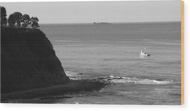 Ocean Wood Print featuring the photograph Adrift by Shari Chavira