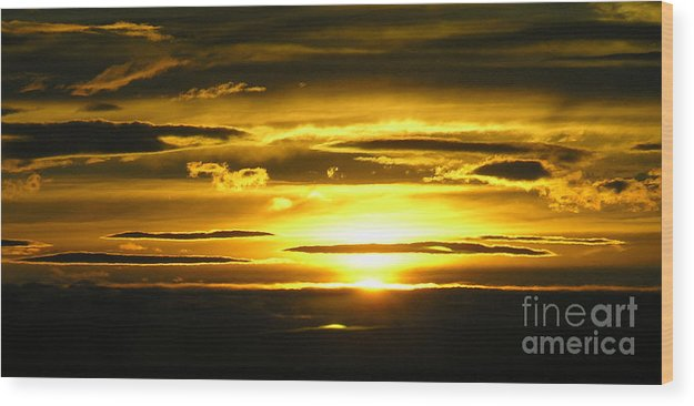 Sunset Wood Print featuring the photograph Alaskan Sunset by Louise Magno