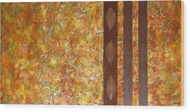 Texture Wood Print featuring the painting Autumn Harvest by Sophia Elise