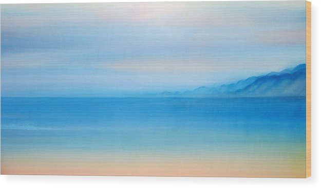 Milolii Beach Wood Print featuring the painting Milolii Kauai by Kevin Smith