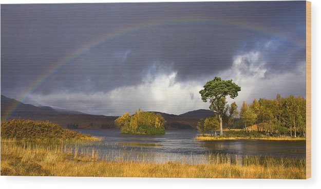 Scotland Wood Print featuring the photograph Rainbow Loch Tulla by John McKinlay