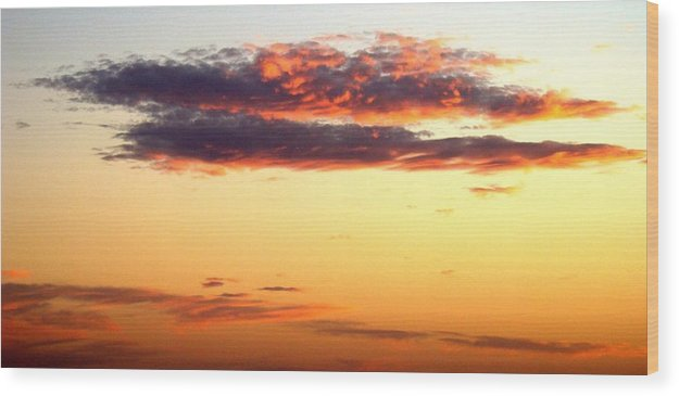 Sunset Wood Print featuring the photograph Winter Clouds One by Ana Villaronga