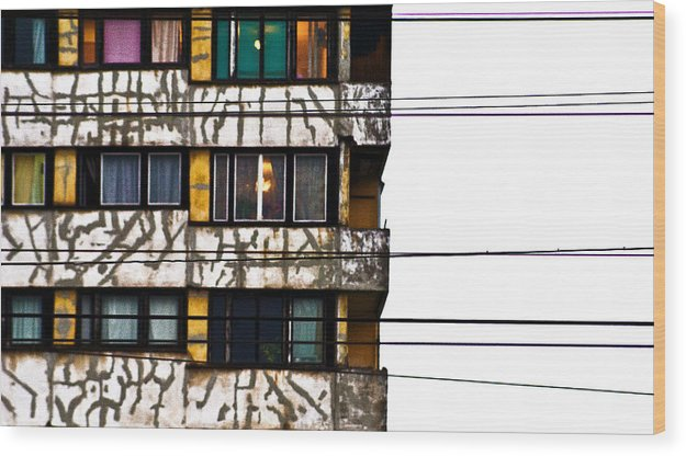 Lines Wood Print featuring the photograph Lines by Vadim Grabbe
