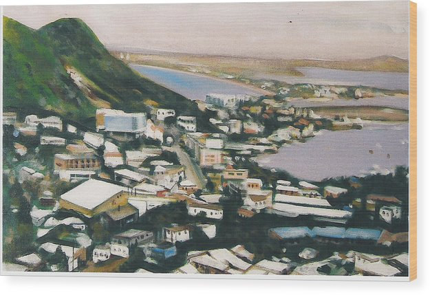 Historic Caribbean Island Wood Print featuring the painting St Maartin St Martin by Howard Stroman