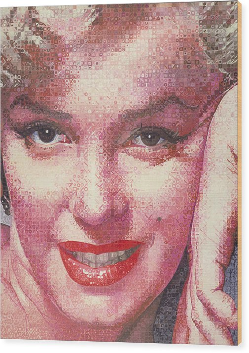 Marilyn Monroe Wood Print featuring the painting Marilyn by Randy Ford