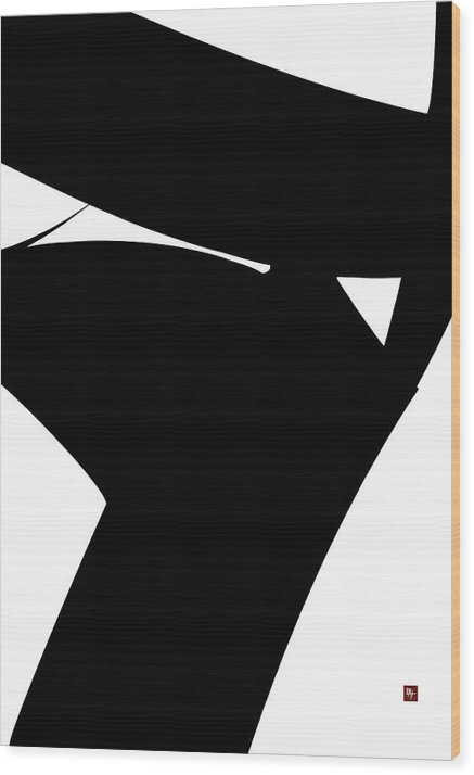 Irregular Form Wood Print featuring the painting Stern by Edward Jensen
