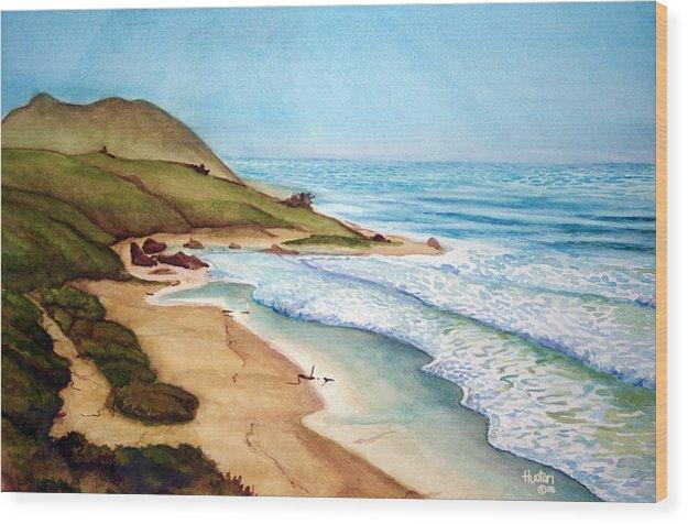Rick Huotari Wood Print featuring the painting Pacific by Rick Huotari