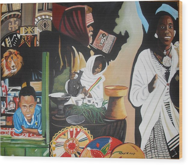 Ethiopia Wood Print featuring the painting Ethiopian Traditions by Patrick Hunt