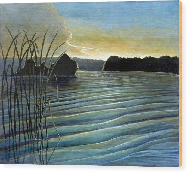 Rick Huotari Wood Print featuring the painting What a beautifull morning by Rick Huotari