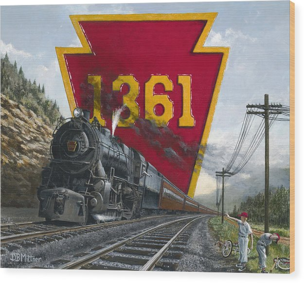 Trains Wood Print featuring the painting Memories Relived by David Mittner