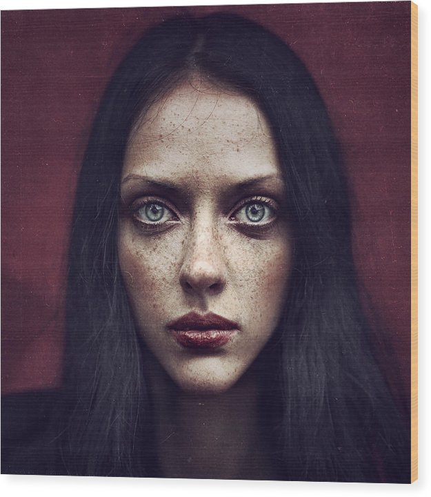 Portrait Wood Print featuring the photograph Kate by Anka Zhuravleva