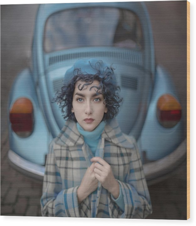 Tale Wood Print featuring the photograph A Study in blue by Anka Zhuravleva