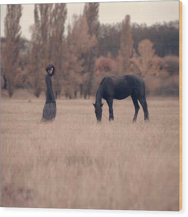 Wood Print featuring the photograph The Duet by Anka Zhuravleva