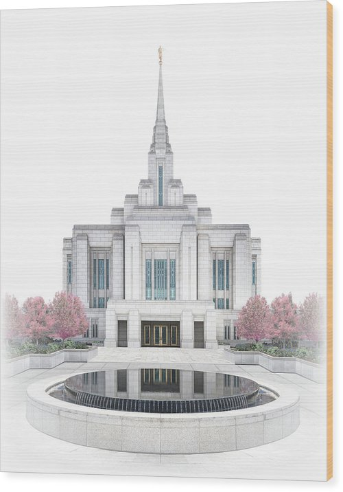Ogden Wood Print featuring the digital art Ogden Temple - Celestial Series by Brent Borup