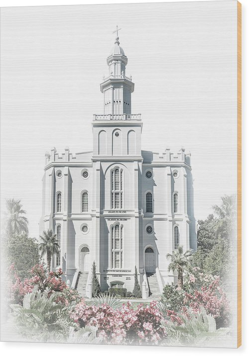 St George Wood Print featuring the digital art St George Temple - Celestial Series by Brent Borup